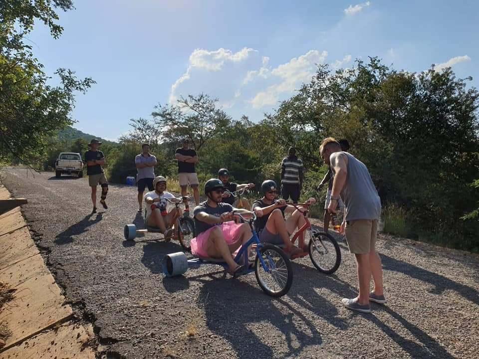 Down hill drift trike rides spanbou teambuild teambuilding South Africa Durban Johannesburg